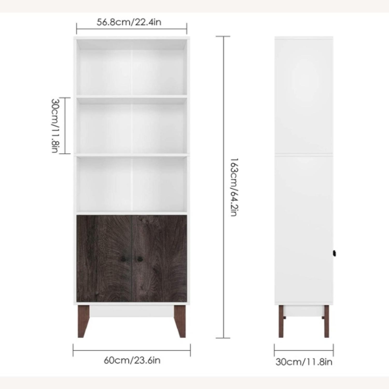 Mid Century 4 Tier Bookcase with Storage - image-2