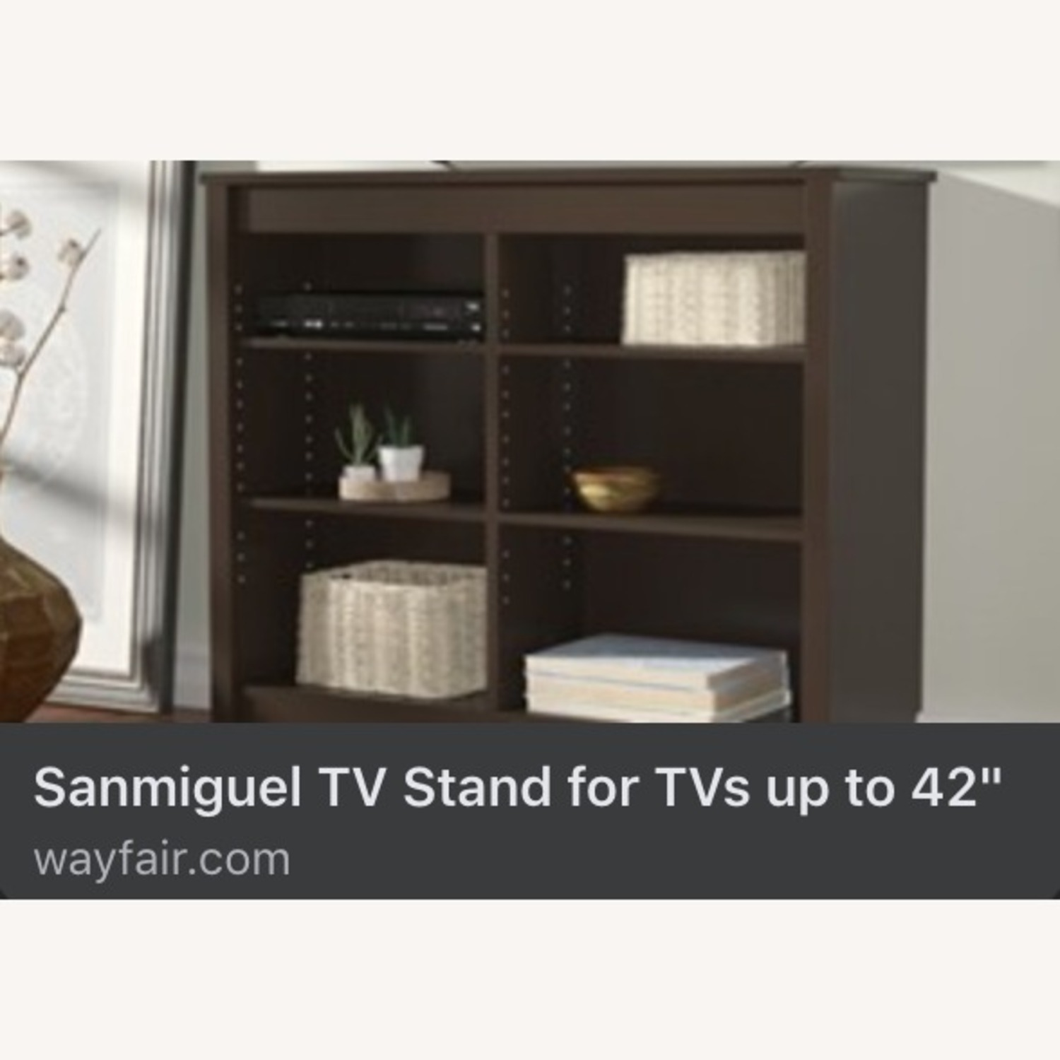 Wayfair Bookcase/Entertainment Console (with TV) - image-1