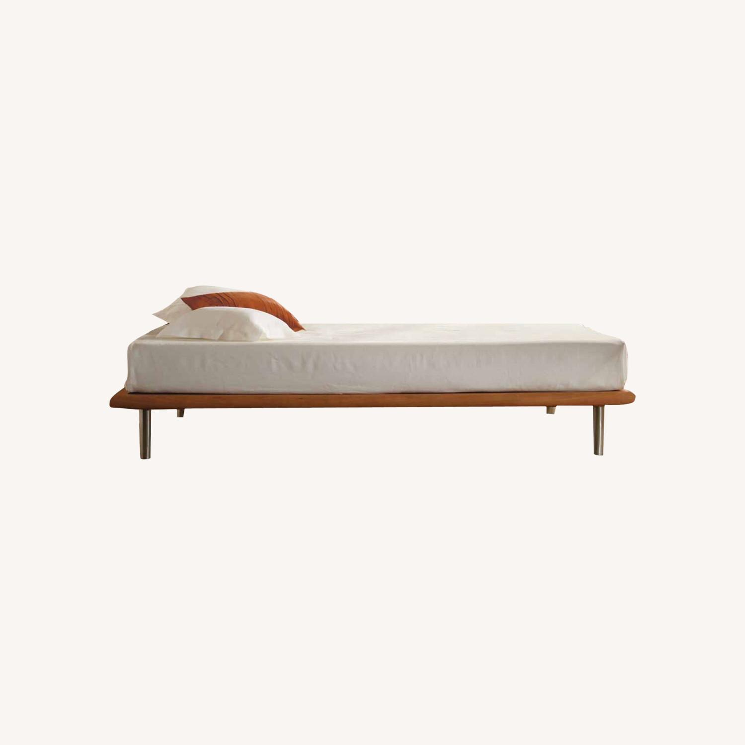 Charles P. Rogers Queen Platform Bed Dark Cherry - image-0