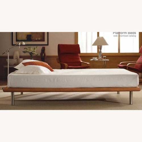 Used Charles P. Rogers Queen Platform Bed Dark Cherry for sale on AptDeco
