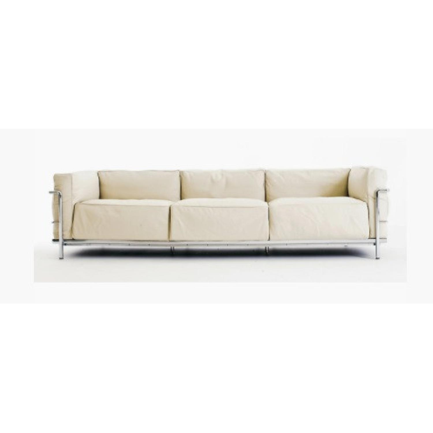 Design within Reach 3 Seat Leather Sofa - image-5
