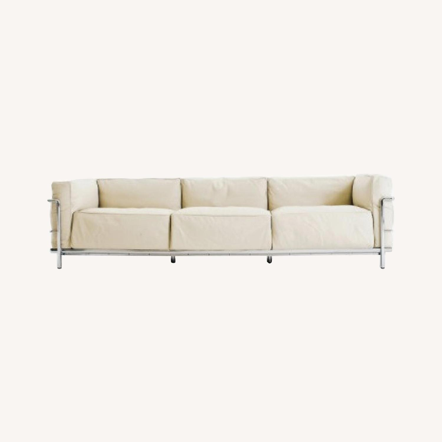 Design within Reach 3 Seat Leather Sofa - image-0