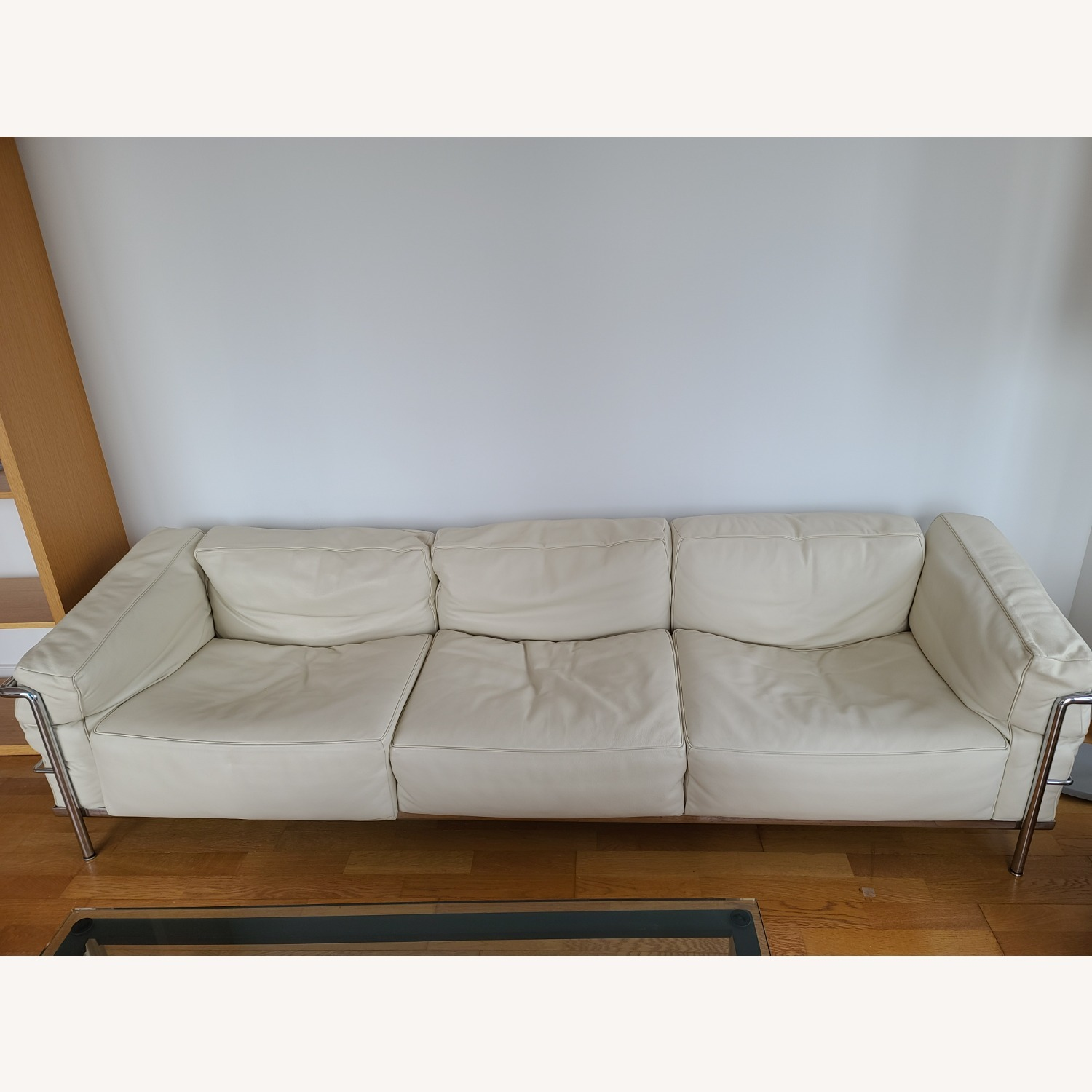Design within Reach 3 Seat Leather Sofa - image-6