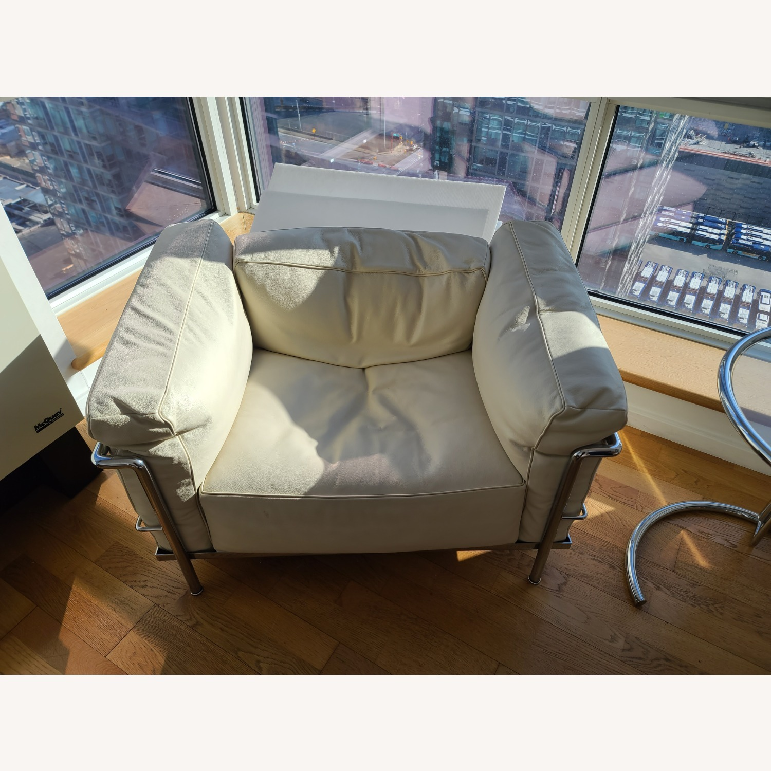 Design within Reach Leather Armchair - image-1