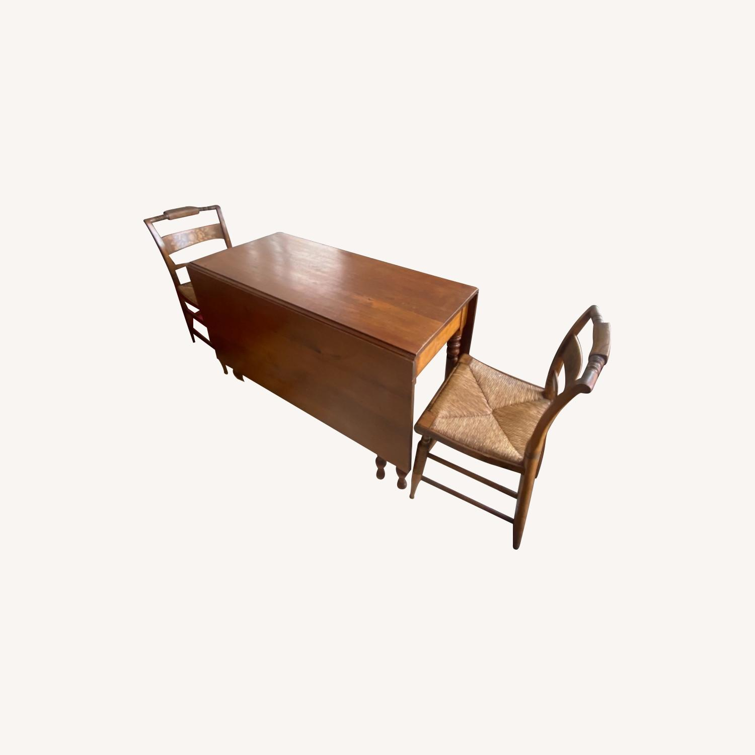 Heirloom Solid Wood Dining Table and Chairs - image-0