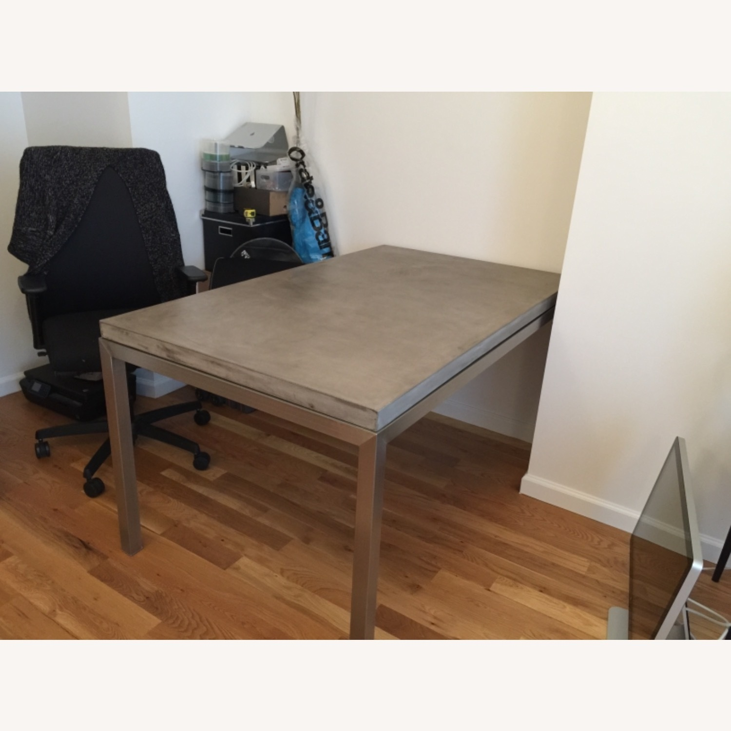 Crate & Barrel Parsons Concrete Dinning Table - image-2