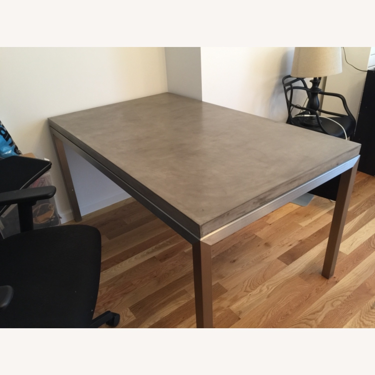 Crate & Barrel Parsons Concrete Dinning Table - image-1