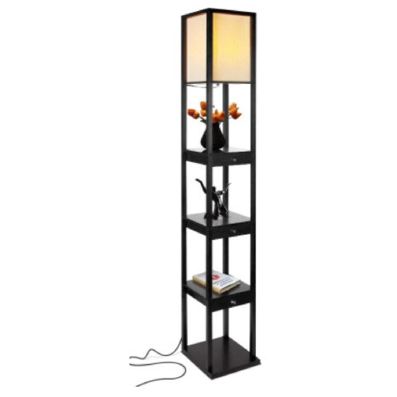 Shelf and Floor Lamp Combo - image-6