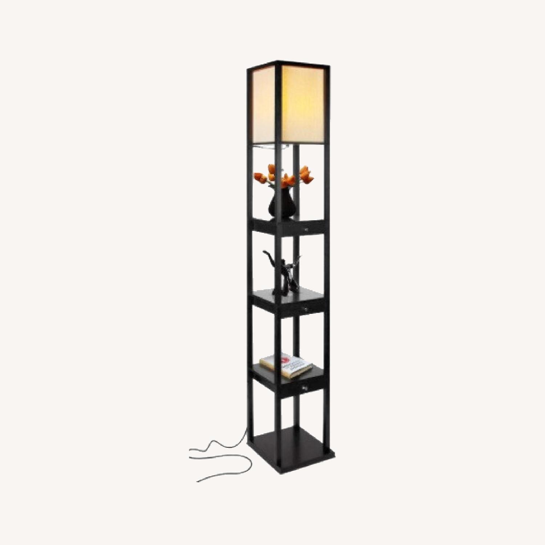 Shelf and Floor Lamp Combo - image-0