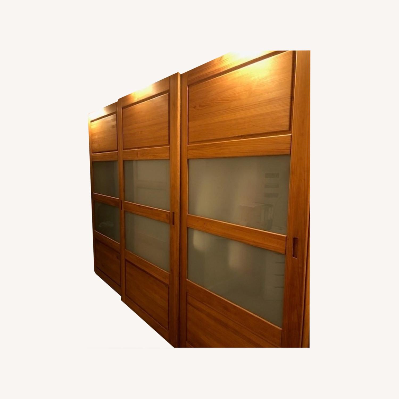 Hardwood Large Wardrobe - image-0
