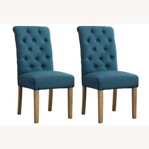 Used Round Hill Furniture Blue Dining Chairs for sale on AptDeco