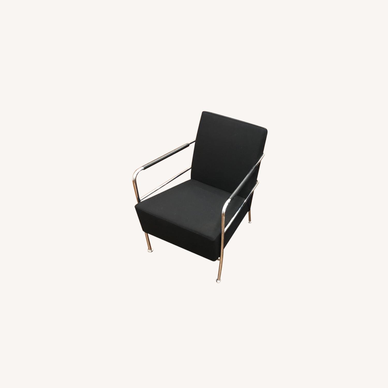Custom Modern Black Accent Chairs - image-0