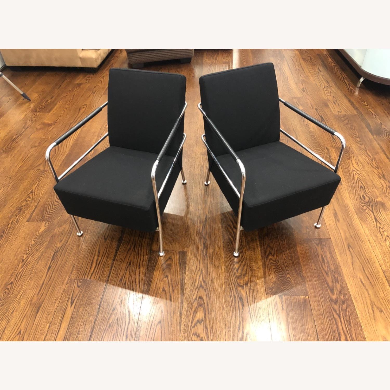 Custom Modern Black Accent Chairs - image-1
