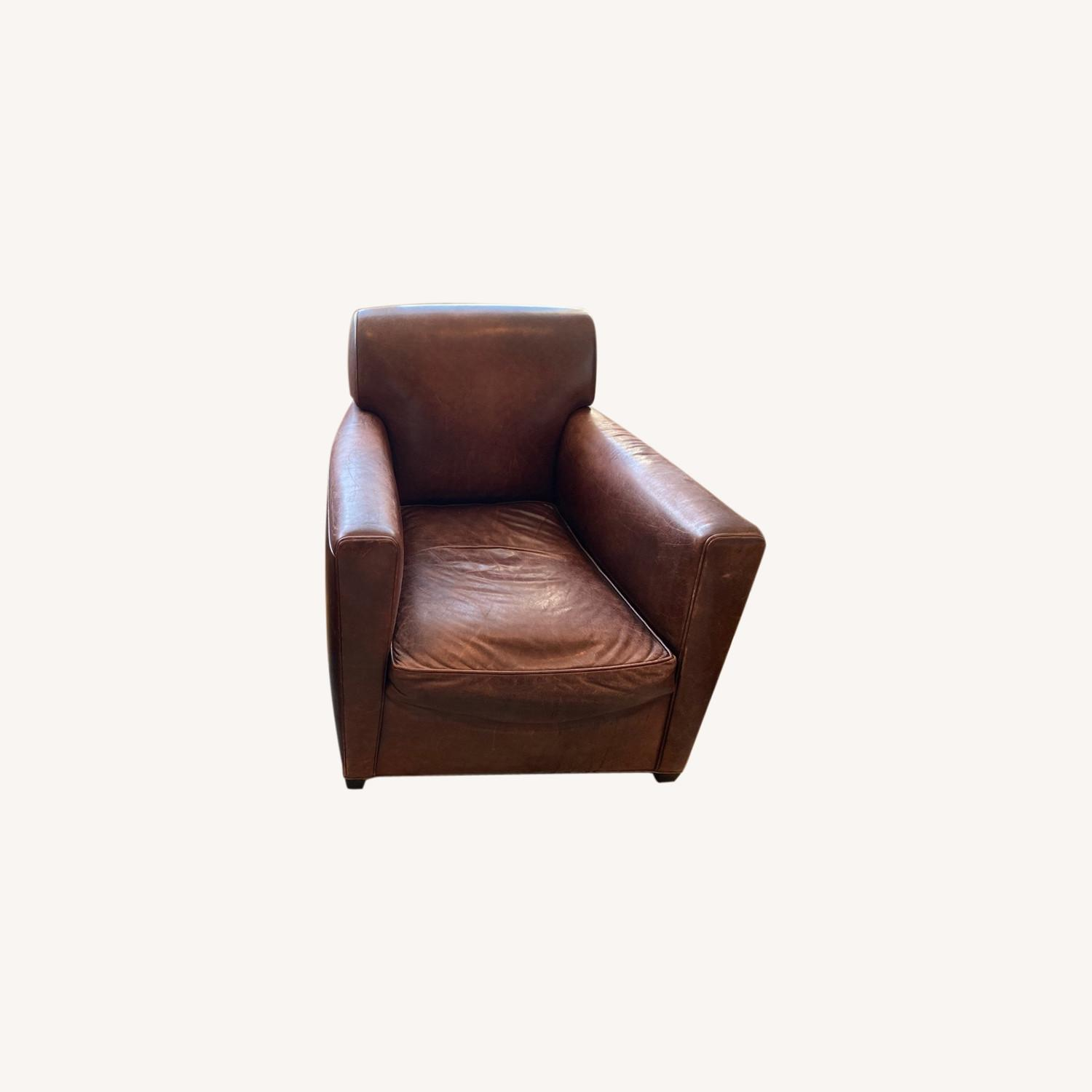 Baker + Coach Leather Club Chairs - Set of 2 - image-0