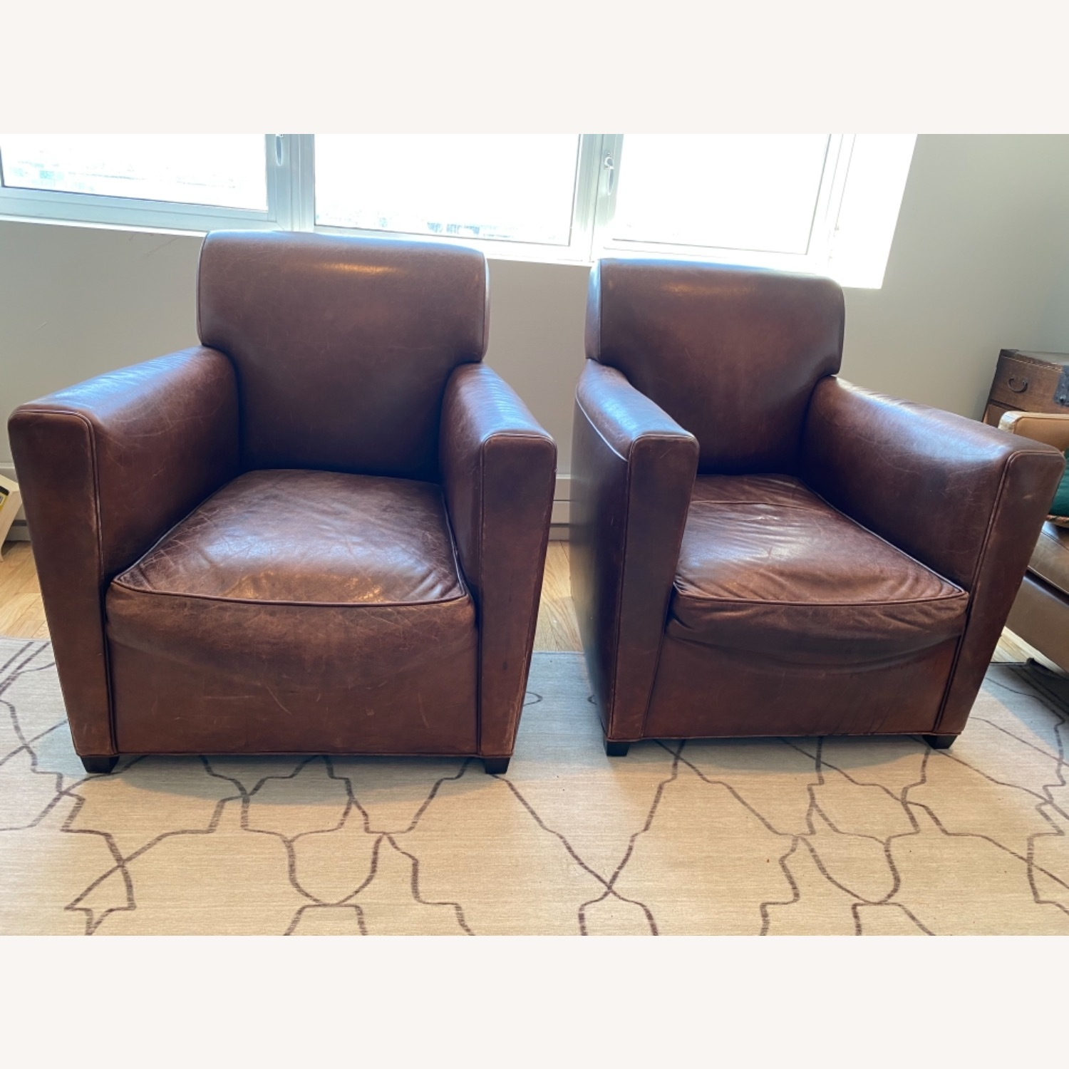 Baker + Coach Leather Club Chairs - Set of 2 - image-5