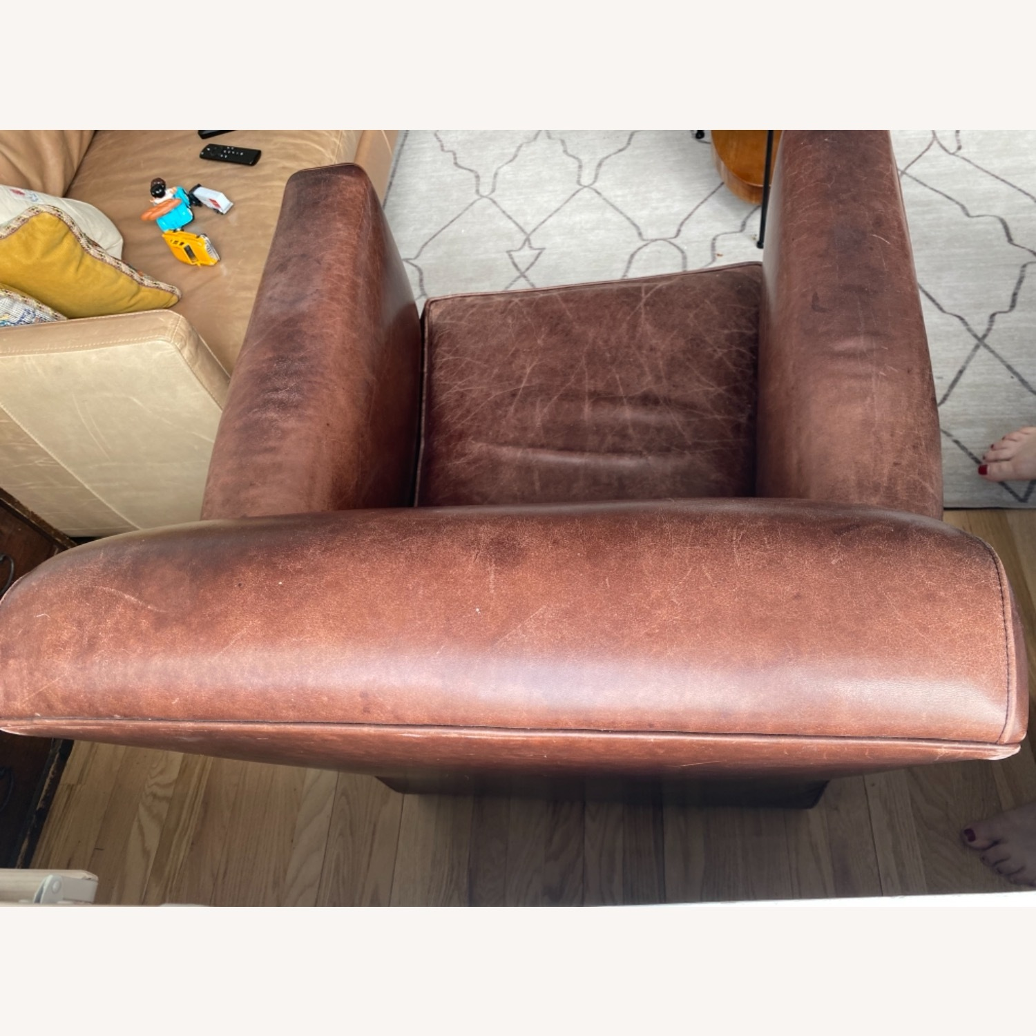 Baker + Coach Leather Club Chairs - Set of 2 - image-10