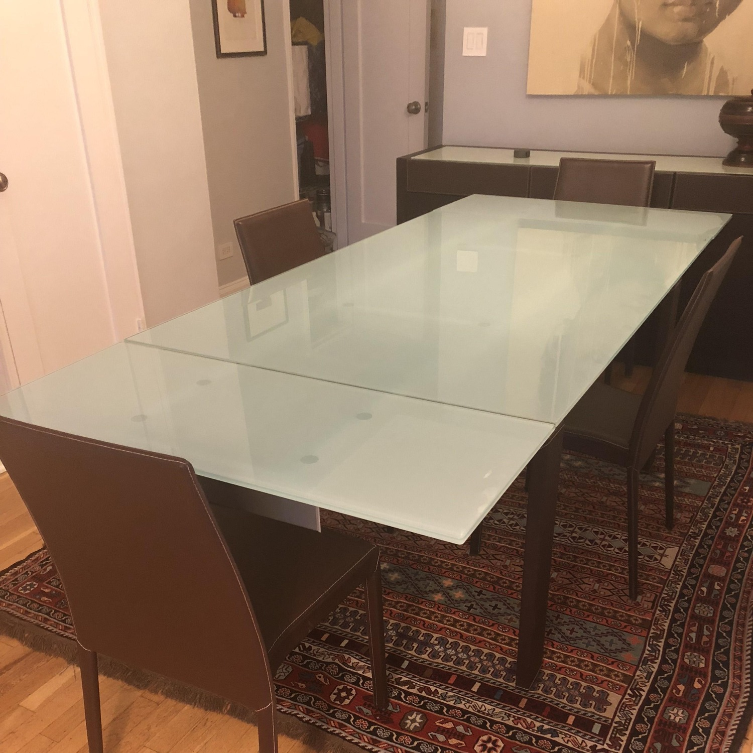 Calligaris Extension Table w/ 4 Chairs - image-2