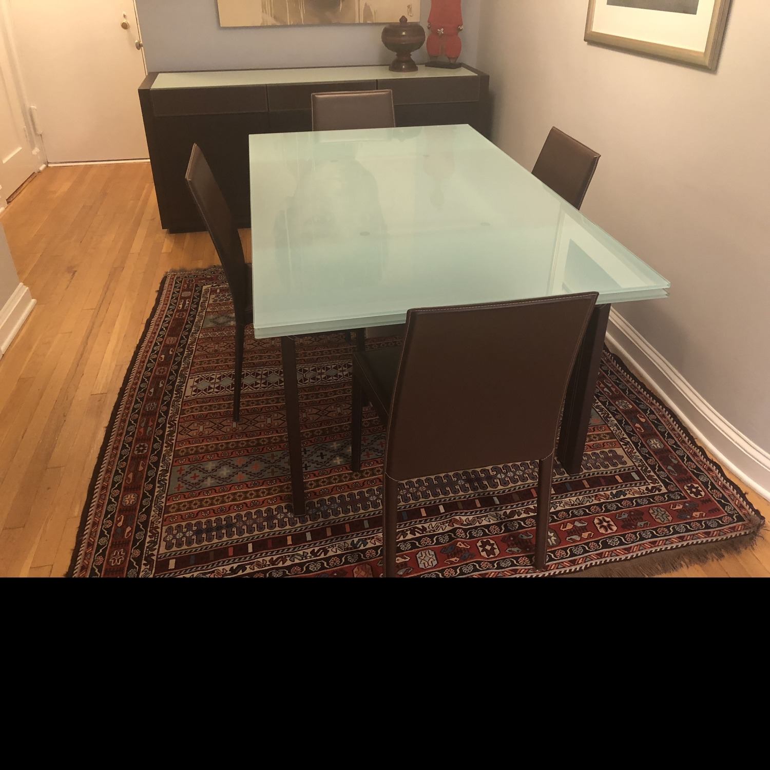 Calligaris Extension Table w/ 4 Chairs - image-9