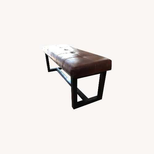 Used Ralph Lauren Leather Bench for sale on AptDeco