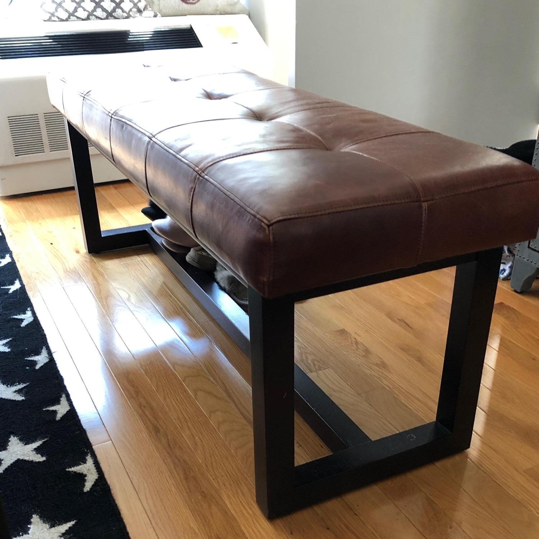 Ralph Lauren Leather Bench - image-1
