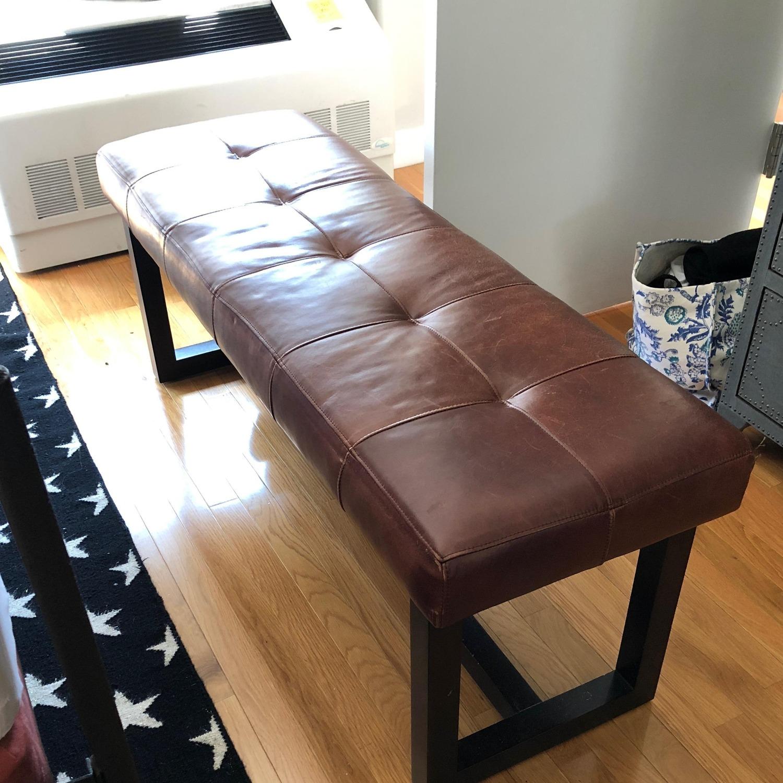 Ralph Lauren Leather Bench - image-3