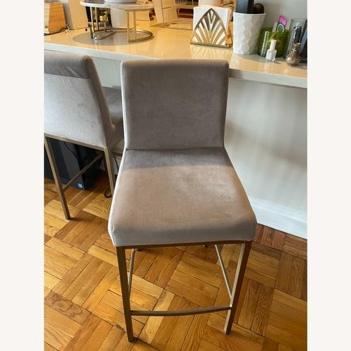 Used TOV Furniture Velvet Counter Stools for sale on AptDeco