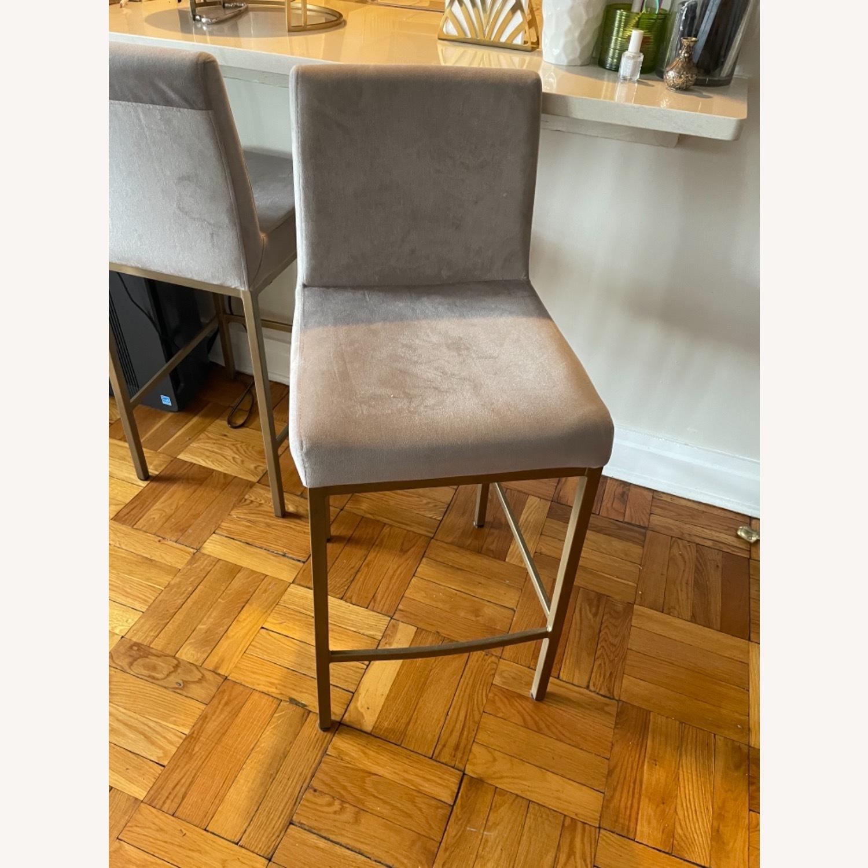 TOV Furniture Velvet Counter Stools - image-2