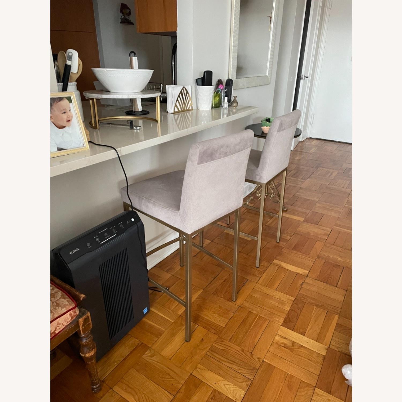 TOV Furniture Velvet Counter Stools - image-7