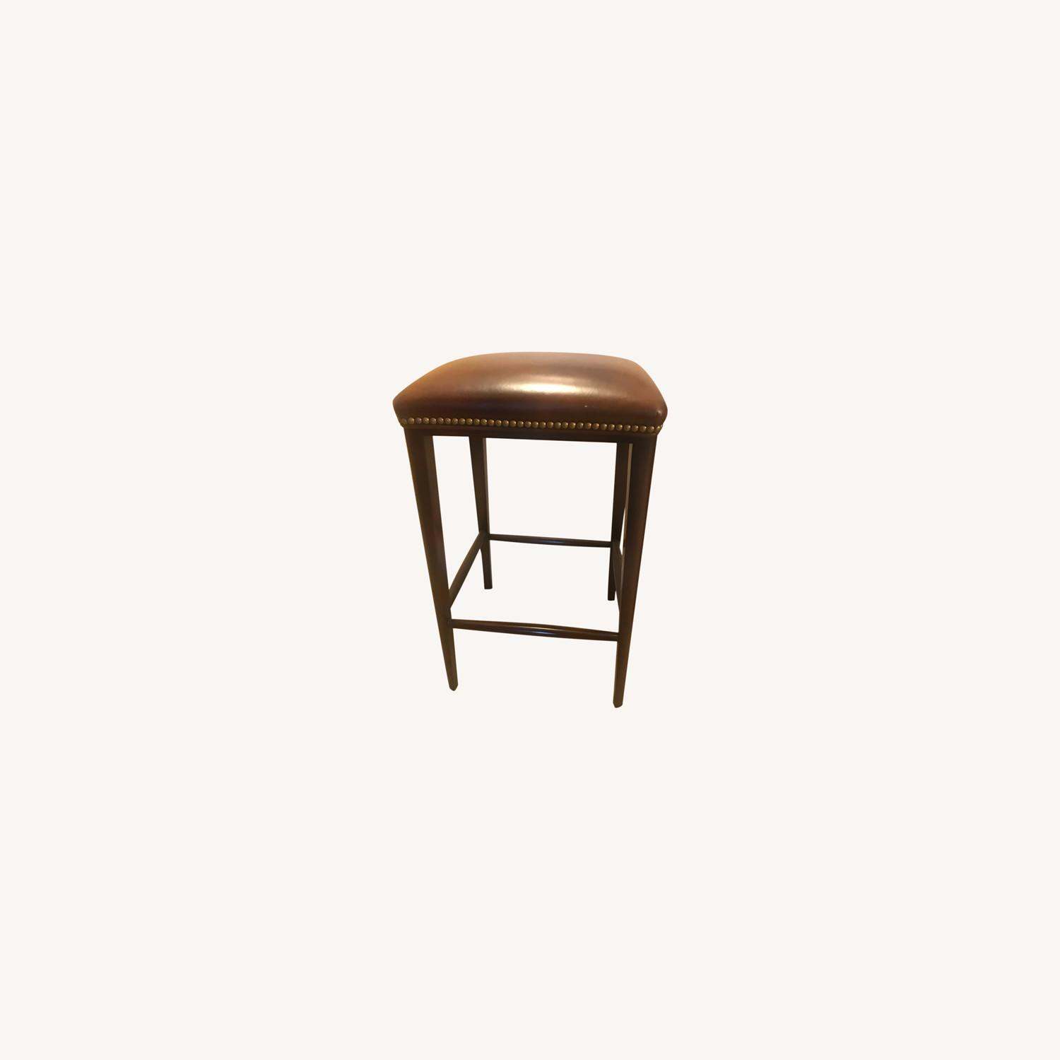 Scully & Scully Leather Bar Stool - image-0