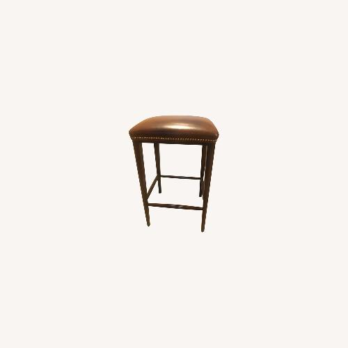 Used Scully & Scully Leather Bar Stool for sale on AptDeco