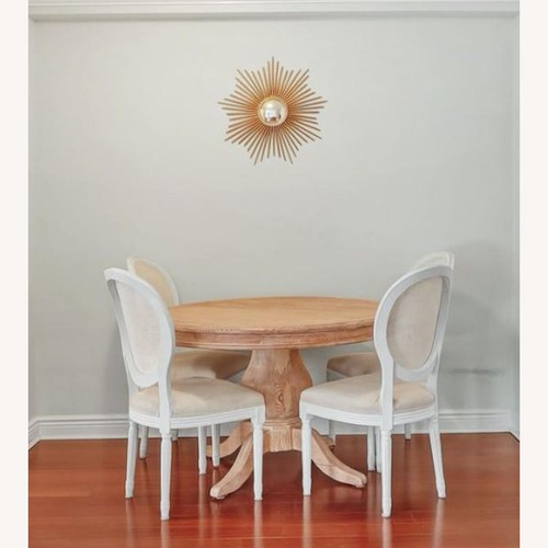 """Used French Country Round 48"""" Dining Table for sale on AptDeco"""
