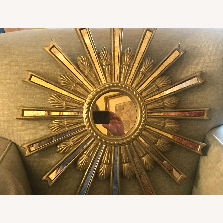 Ethan Allen Silver Starburst Mirror - image-4