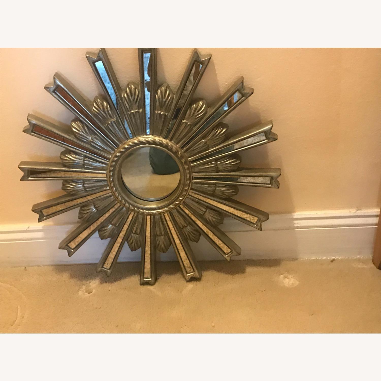 Ethan Allen Silver Starburst Mirror - image-1