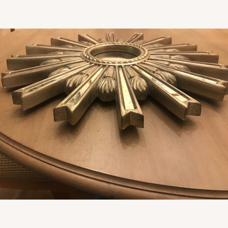 Ethan Allen Silver Starburst Mirror - image-3
