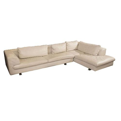 Used Roche Bobois White Two Piece Sectional for sale on AptDeco
