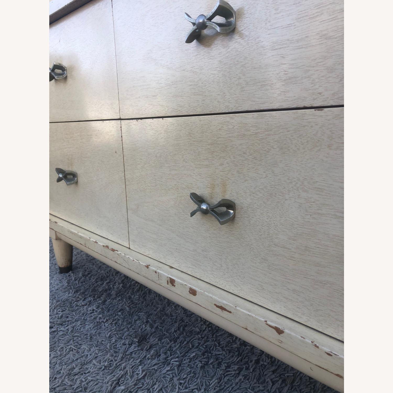 Mid Century Blonde Lowboy Dresser - image-12