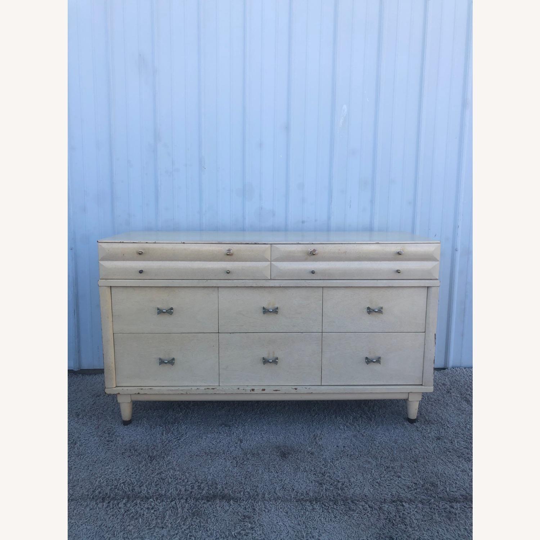 Mid Century Blonde Lowboy Dresser - image-11