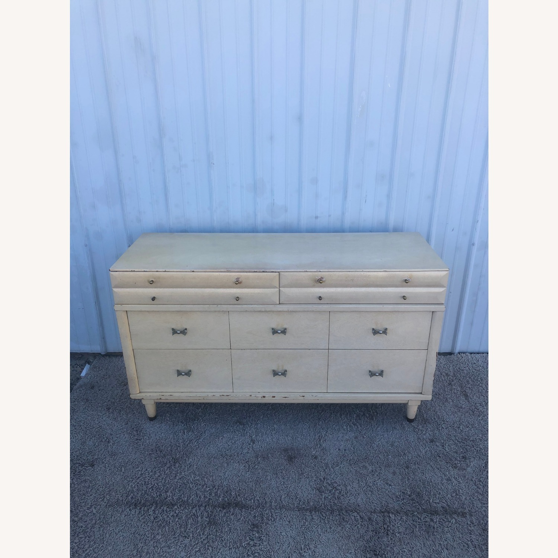 Mid Century Blonde Lowboy Dresser - image-2