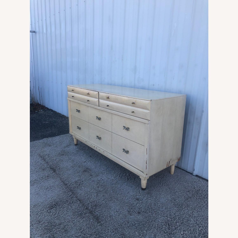 Mid Century Blonde Lowboy Dresser - image-3
