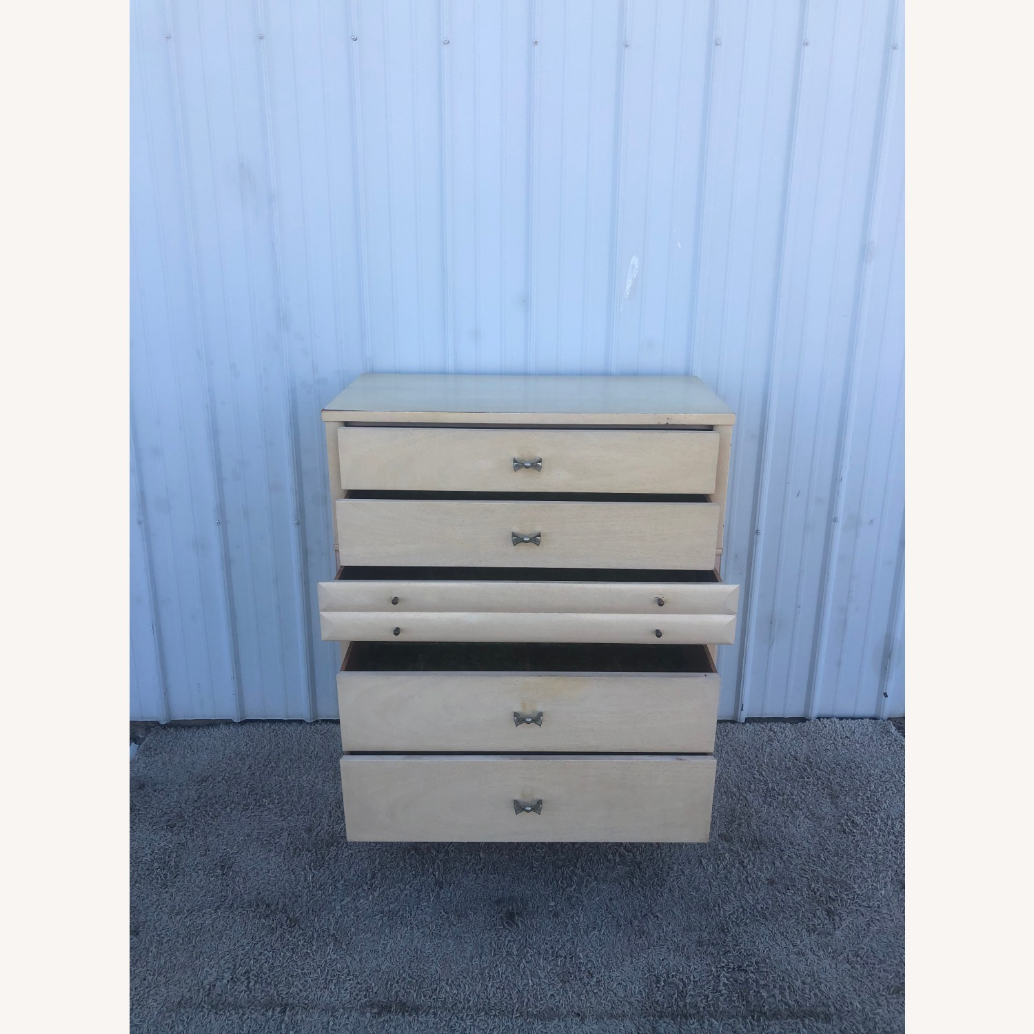 Mid Century Blonde Highboy by Huntley - image-11