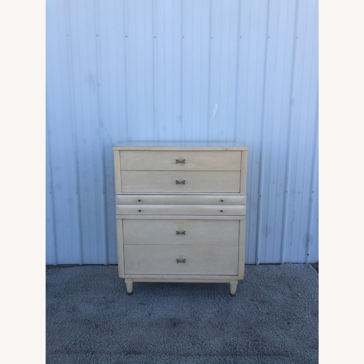Mid Century Blonde Highboy by Huntley - image-2