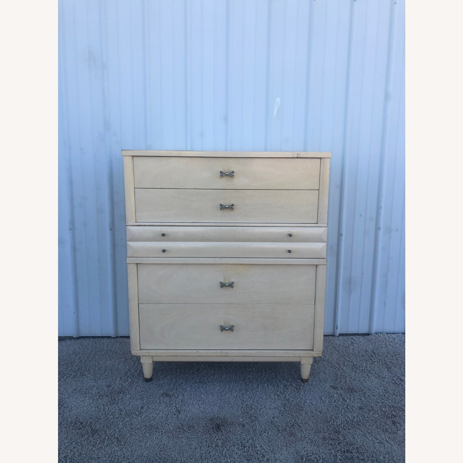 Mid Century Blonde Highboy by Huntley - image-1