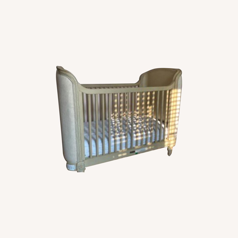 Restoration Hardware Belle Upholstered Crib - image-0