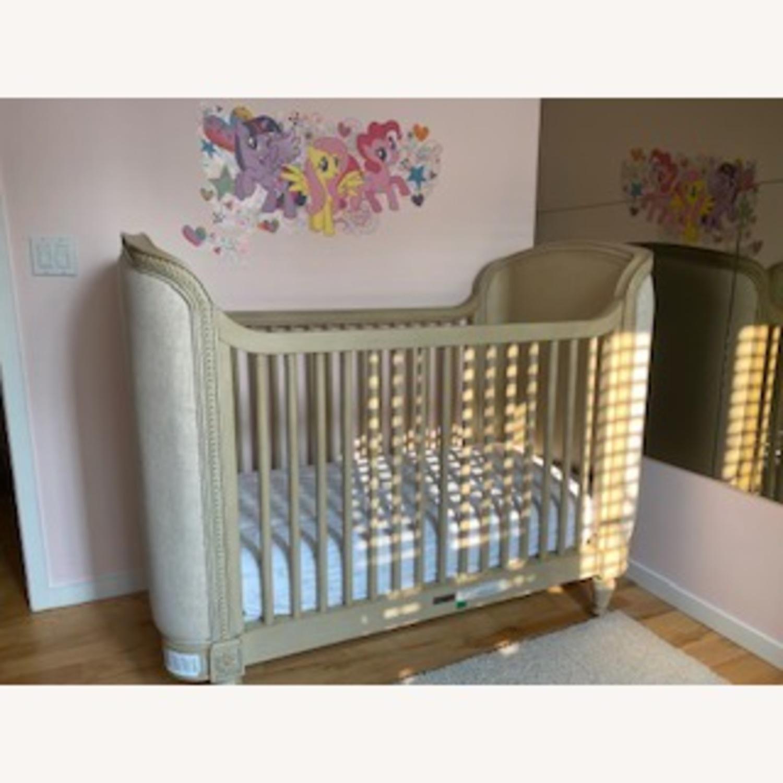 Restoration Hardware Belle Upholstered Crib - image-1