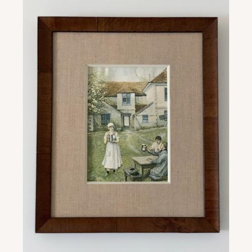 Used High Quality Framed Vintage Farmhouse Print for sale on AptDeco