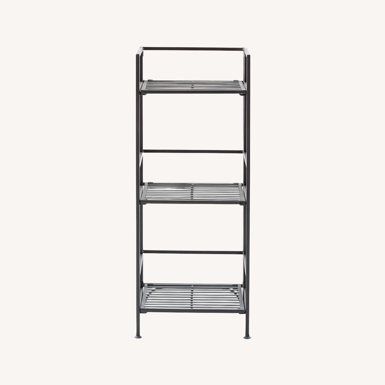 Container Store 3-Shelf Iron Folding Bookshelf - image-0