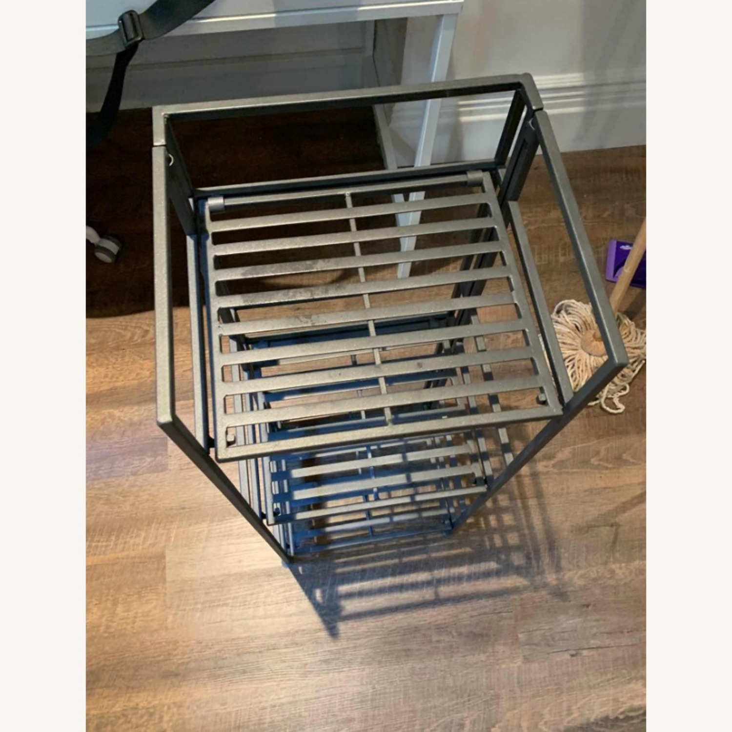 Container Store 3-Shelf Iron Folding Bookshelf - image-3