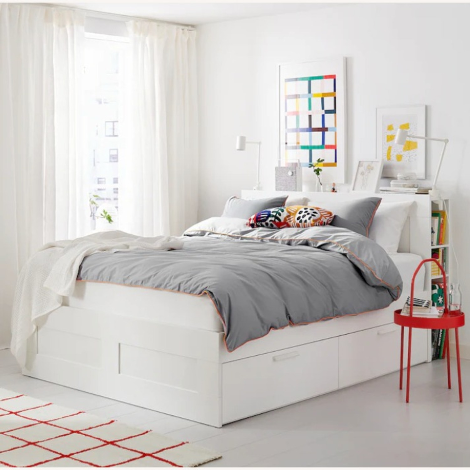 IKEA Bed Frame with Storage - image-5