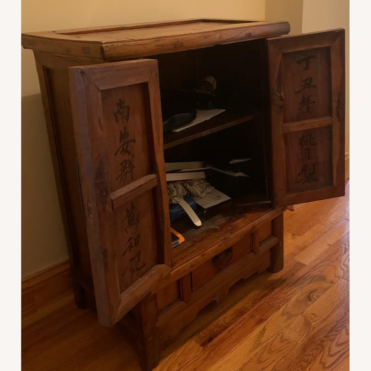 ABC Carpet and Home Antique Wood Chest - image-4