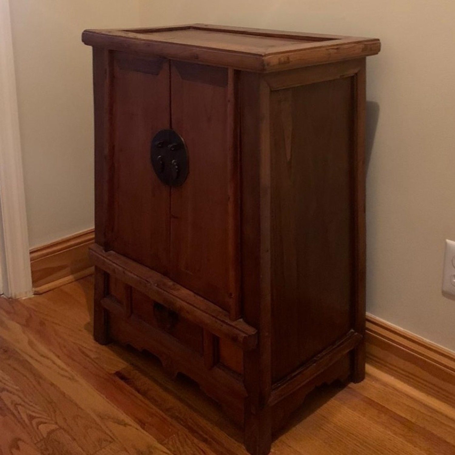 ABC Carpet and Home Antique Wood Chest - image-1